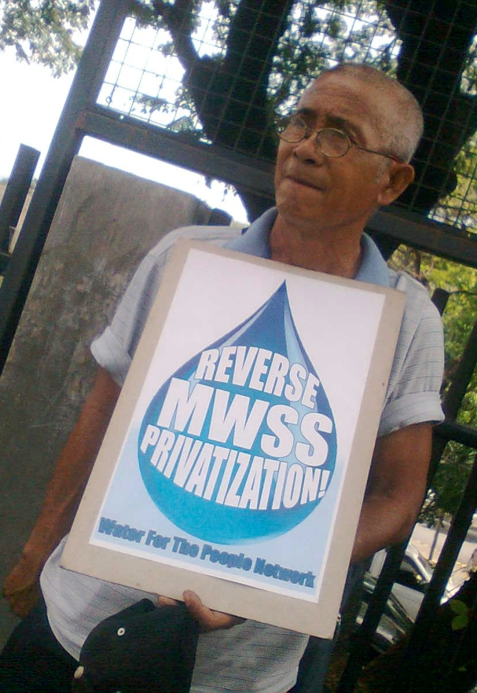 It's not enough that there are well-meaning regulators who will monitor the water companies. The long-term solution is to reverse MWSS privatization. (Photo from the Water for the People Network)