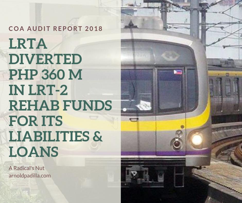 LRTA misused LRT-2 rehab funds